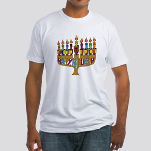 Happy Hanukkah Dreidel Menorah T-Shirt