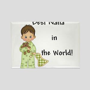 Best Nana in the World Boy Rectangle Magnet