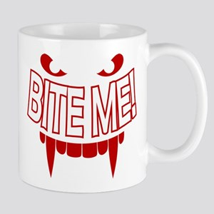 Bite Me Vampire Teeth Mug