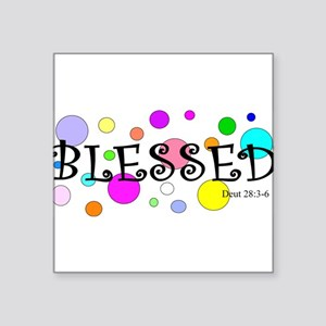 "Blessed Square Sticker 3"" x 3"""