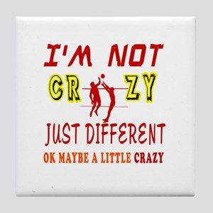 I'm not Crazy just different Beach Volleyball Tile