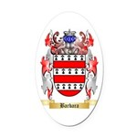 Barbara Oval Car Magnet