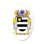 Barbage Oval Car Magnet