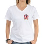 Barattoni Women's V-Neck T-Shirt