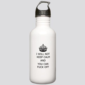 Keep Calm and Fuck off Water Bottle