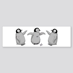 Emperor Penguin Chick Bumper Sticker