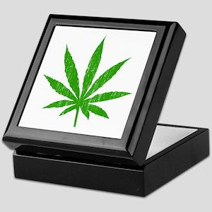 Marijuana Leaf Keepsake Box