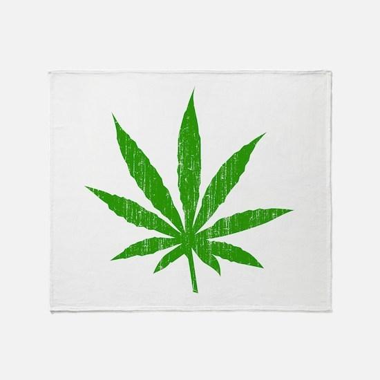 Marijuana Leaf Throw Blanket
