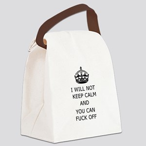 Keep Calm and Fuck off Canvas Lunch Bag