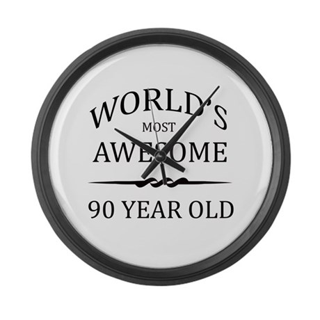 World's Most Awesome 90 Year Old Large Wall Clock