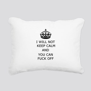 Keep Calm and Fuck off Rectangular Canvas Pillow