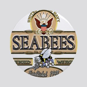 USN Seabees Est. 1942 Ornament (Round)