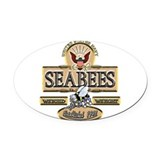 Seabees Oval Car Magnets