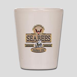 USN Seabees Est. 1942 Shot Glass