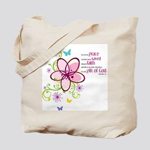For it is by Grace you have been Saved Tote Bag