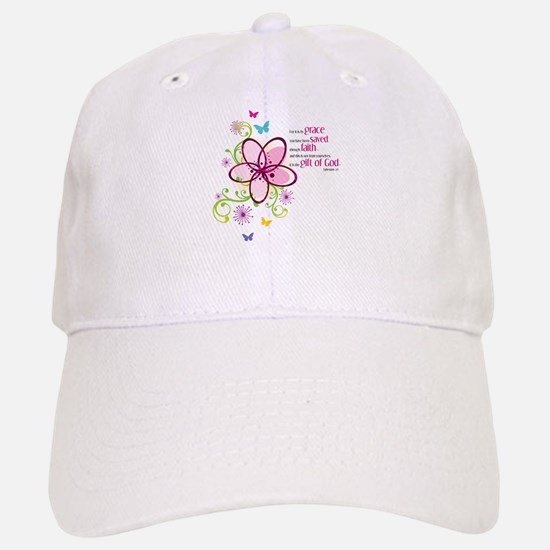 For it is by Grace you have been Saved Baseball Baseball Cap
