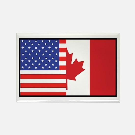 USA/Canada Rectangle Magnet