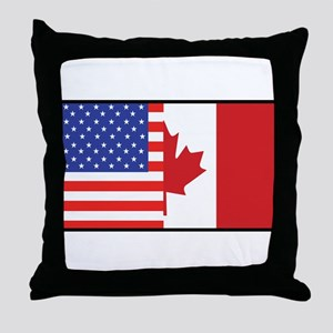USA/Canada Throw Pillow