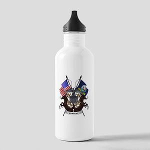 Navy Mustang Emblem Water Bottle