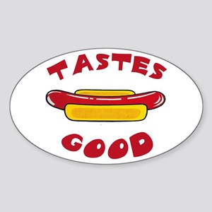 TASTES GOOD Oval Sticker