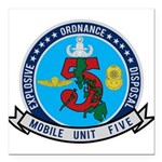 EOD Mobile Unit 5 Square Car Magnet 3