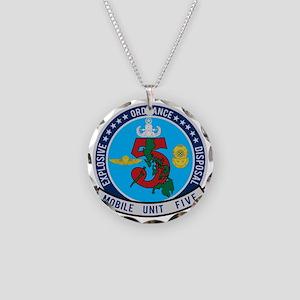 EOD Mobile Unit 5 Necklace Circle Charm