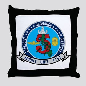 EOD Mobile Unit 5 Throw Pillow