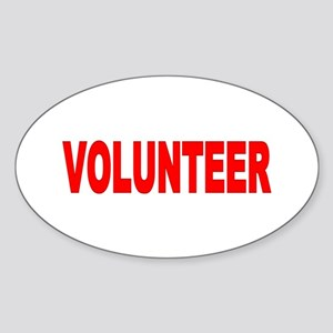 VOLUNTEER Items Oval Sticker