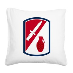 192nd Infantry Bde Square Canvas Pillow