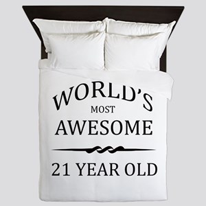 World's Most Awesome 21 Year Old Queen Duvet