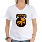 17th Airborne Women's V-Neck T-Shirt