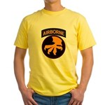 17th Airborne Yellow T-Shirt