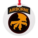 17th Airborne Round Ornament