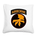 17th Airborne Square Canvas Pillow