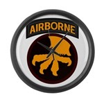 17th Airborne Large Wall Clock