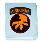 17th Airborne baby blanket