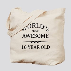 World's Most Awesome 16 Year Old Tote Bag