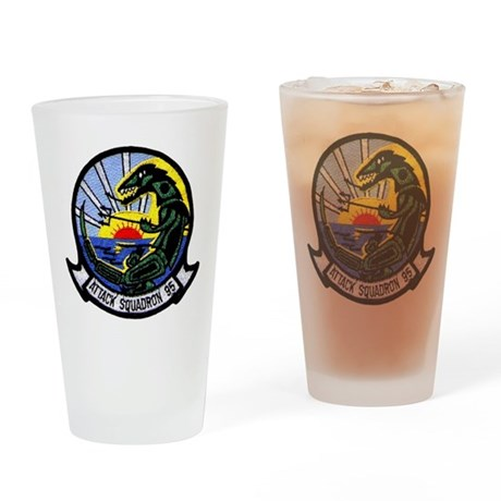 VFA 95 Green Lizards Drinking Glass
