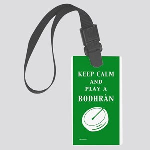 Irish Bodhran Large Luggage Tag
