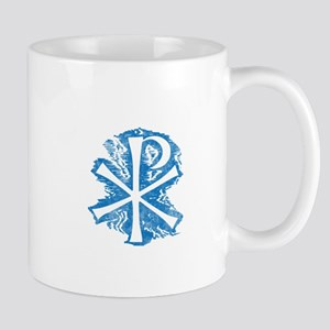 Pretty blue christian cross 2 L e Mug