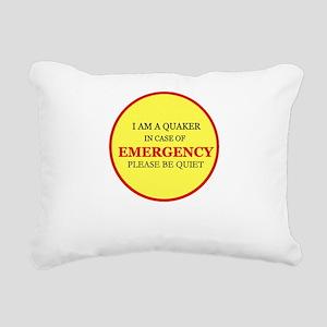Quaker - In Case of Emergency Rectangular Canvas P