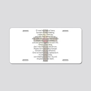 Sacred Heart of Jesus Cross Aluminum License Plate