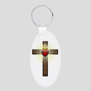 Sacred Heart of Jesus Cross Keychains