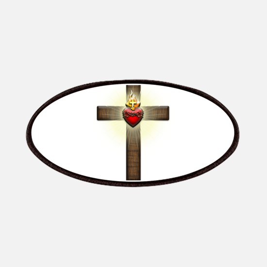Sacred Heart of Jesus Cross Patches