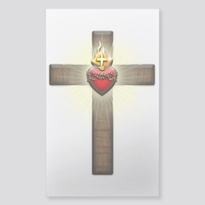 Sacred Heart of Jesus Cross Sticker