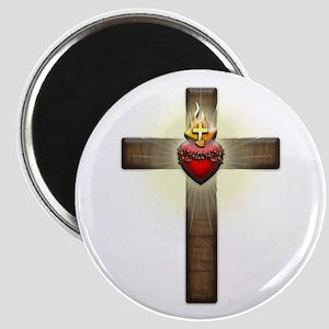 Sacred Heart of Jesus Cross Magnet