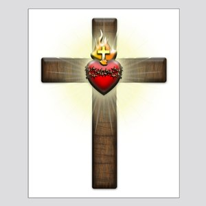 Sacred Heart of Jesus Cross Posters