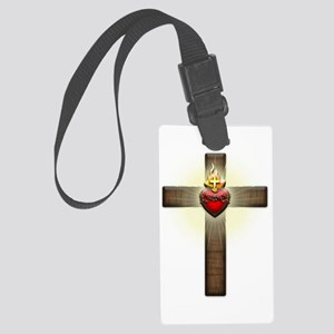 Sacred Heart of Jesus Cross Luggage Tag
