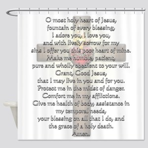 Sacred Heart of Jesus Cross Shower Curtain
