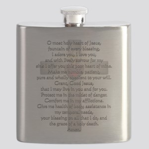 Sacred Heart of Jesus Cross Flask